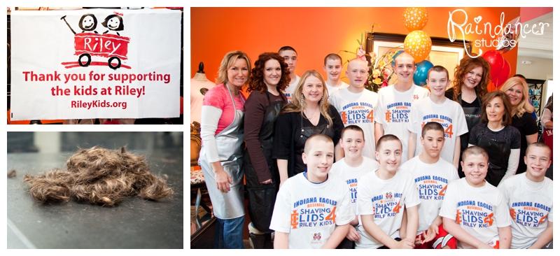 Indiana Eagles- Shaving Lids 4 Riley Kids Fundraiser [Indianapolis Children Photographer]