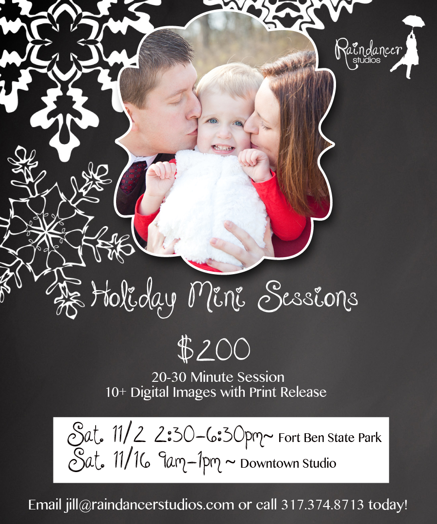 2013 Holiday Mini Sessions in November {Indianapolis Family Photography}