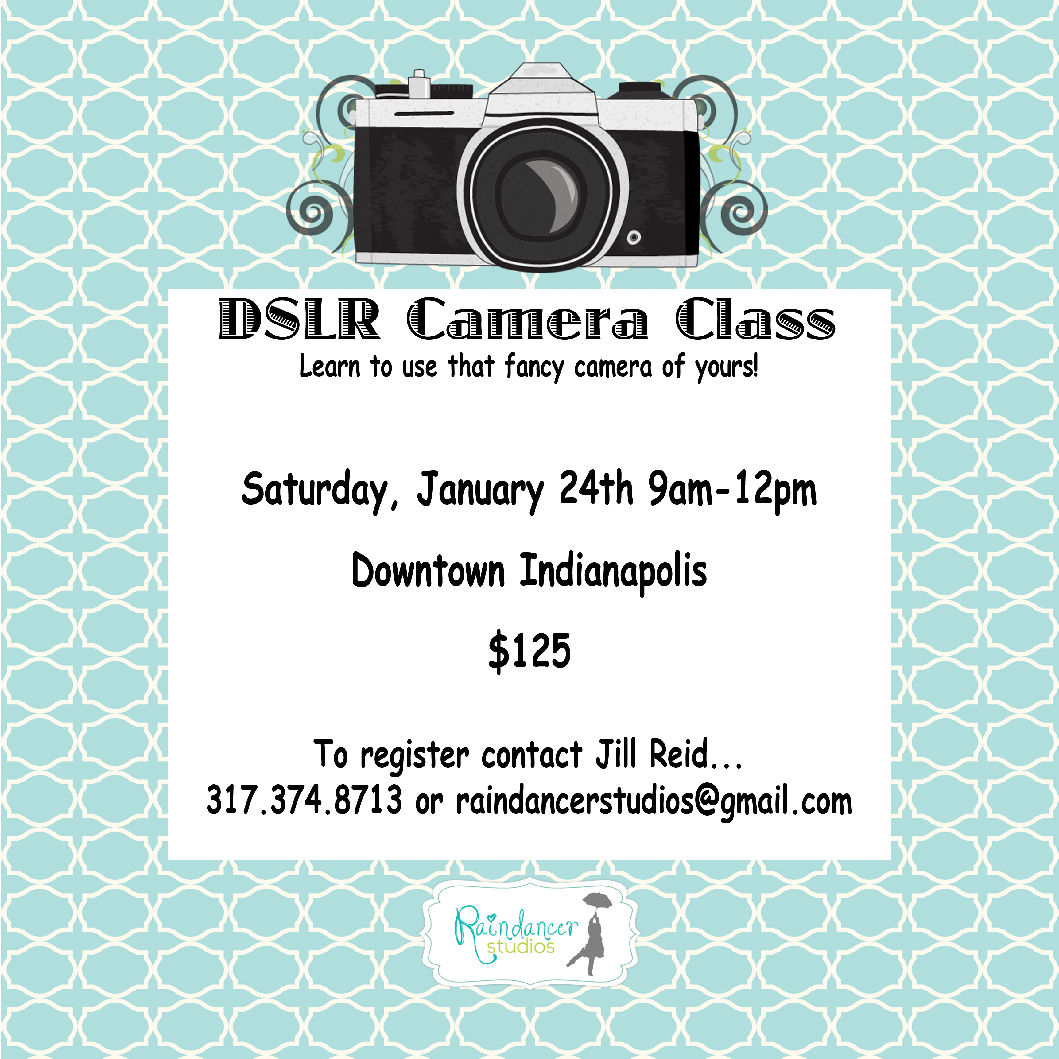 New Camera Class On Jan. 24!  {Indianapolis Photography Class}