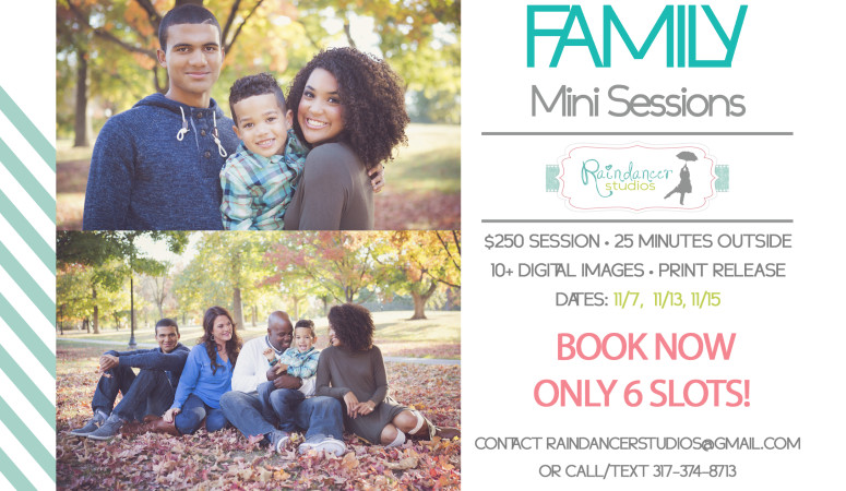 Late Fall Mini Sessions Announced!!