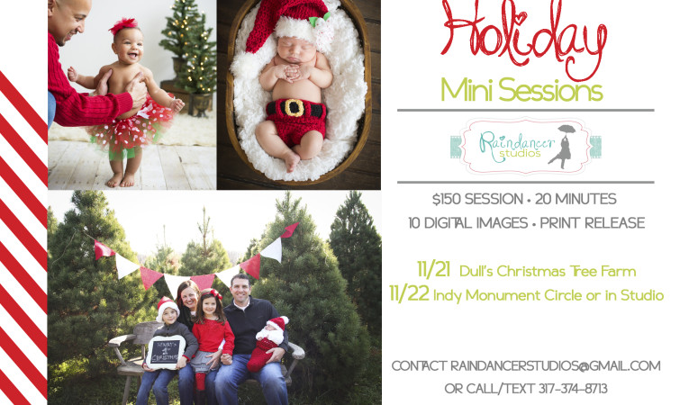 Holiday Mini Sessions Announced!!  {Indianapolis Family Photographer}