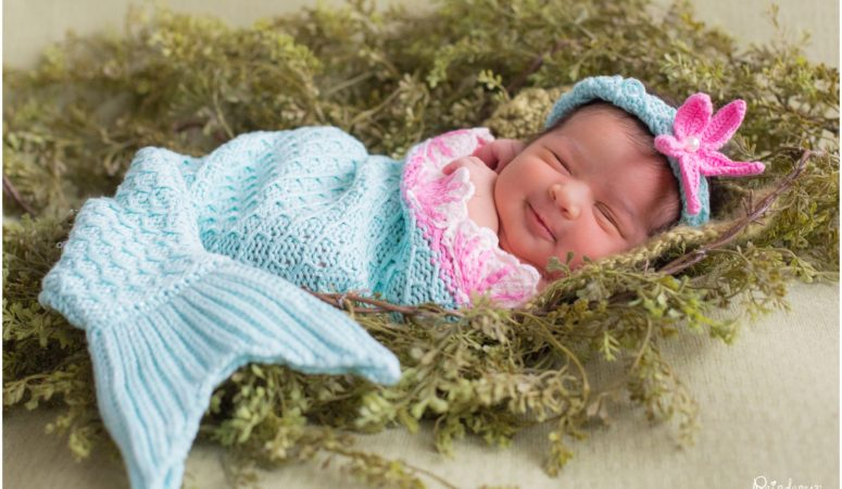 The Newest Little Mermaid –  Indianapolis Newborn Photographer