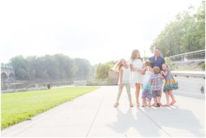 Family of 6 laughing and hugging - by Indianapolis Photographer Jill Howell