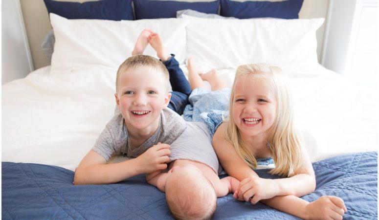 Twins Welcome Baby Ian – Columbus Indiana Newborn Photographer