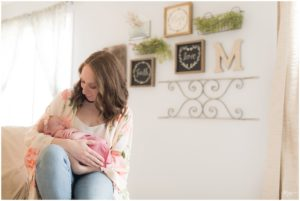 Newborn Session in Franklin Indiana home.