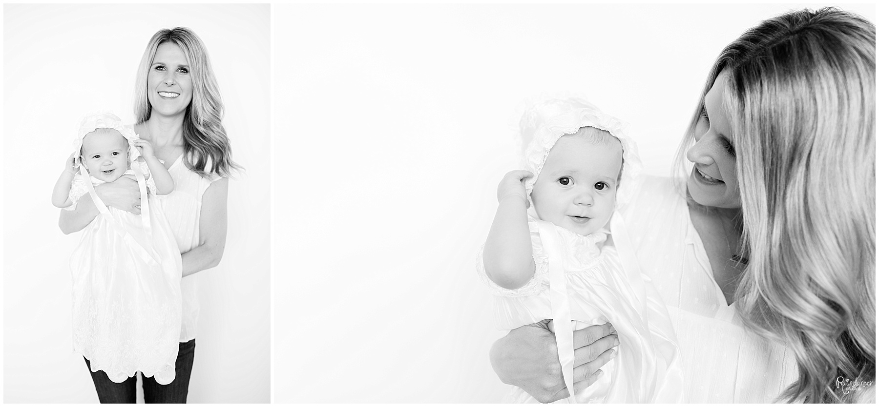 New mother and one year old daughter by Raindancer Studios Indianapolis Children Photographer Jill Howell