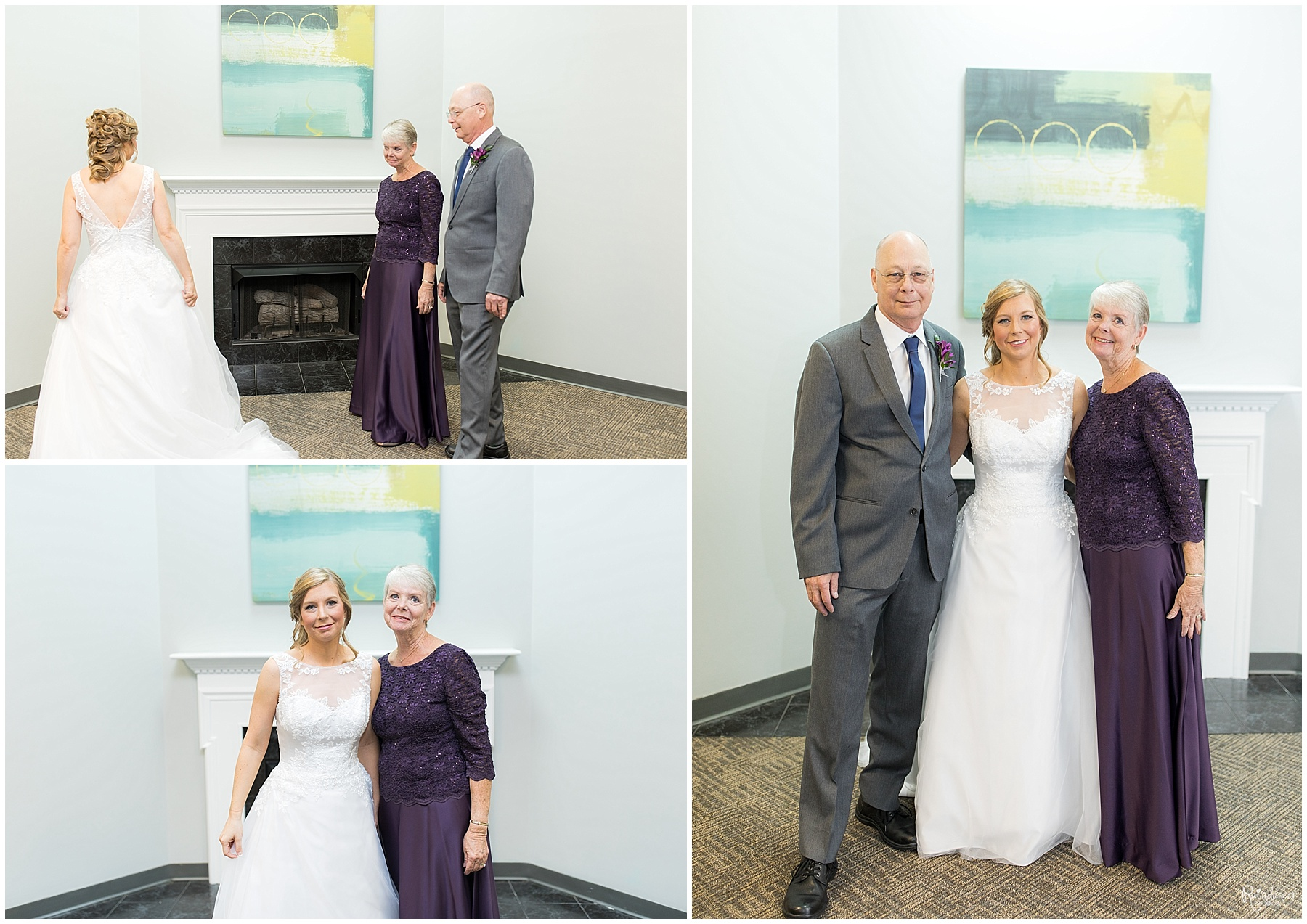 Bride with her parents by Raindancer Studios Indianapolis Wedding Photographer Jill Howell