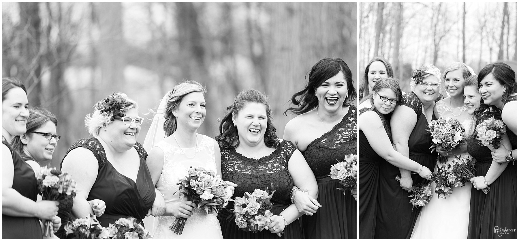 Bride with bridal party and flower girl by Raindancer Studios Indianapolis Wedding Photographer Jill Howell