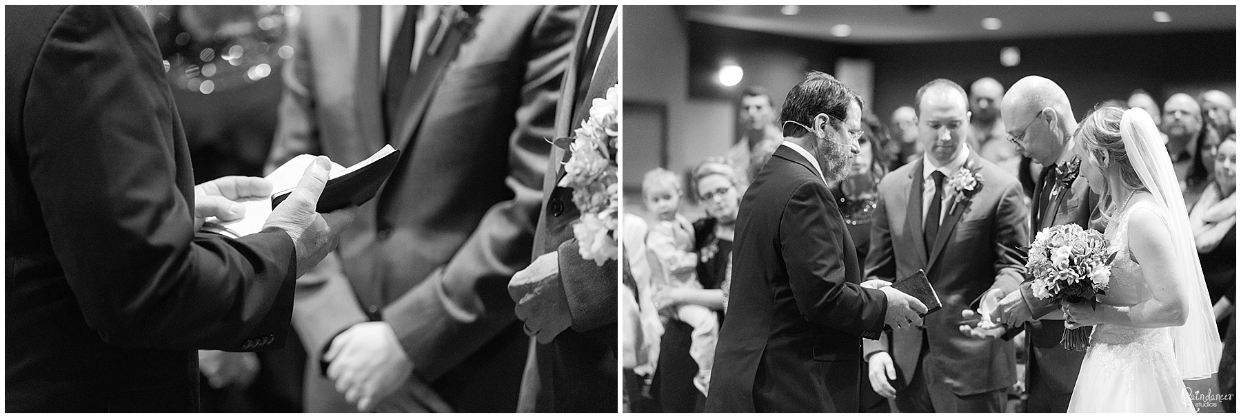 Father giving is daughter away by Raindancer Studios Indianapolis Wedding photographer Jill Howell