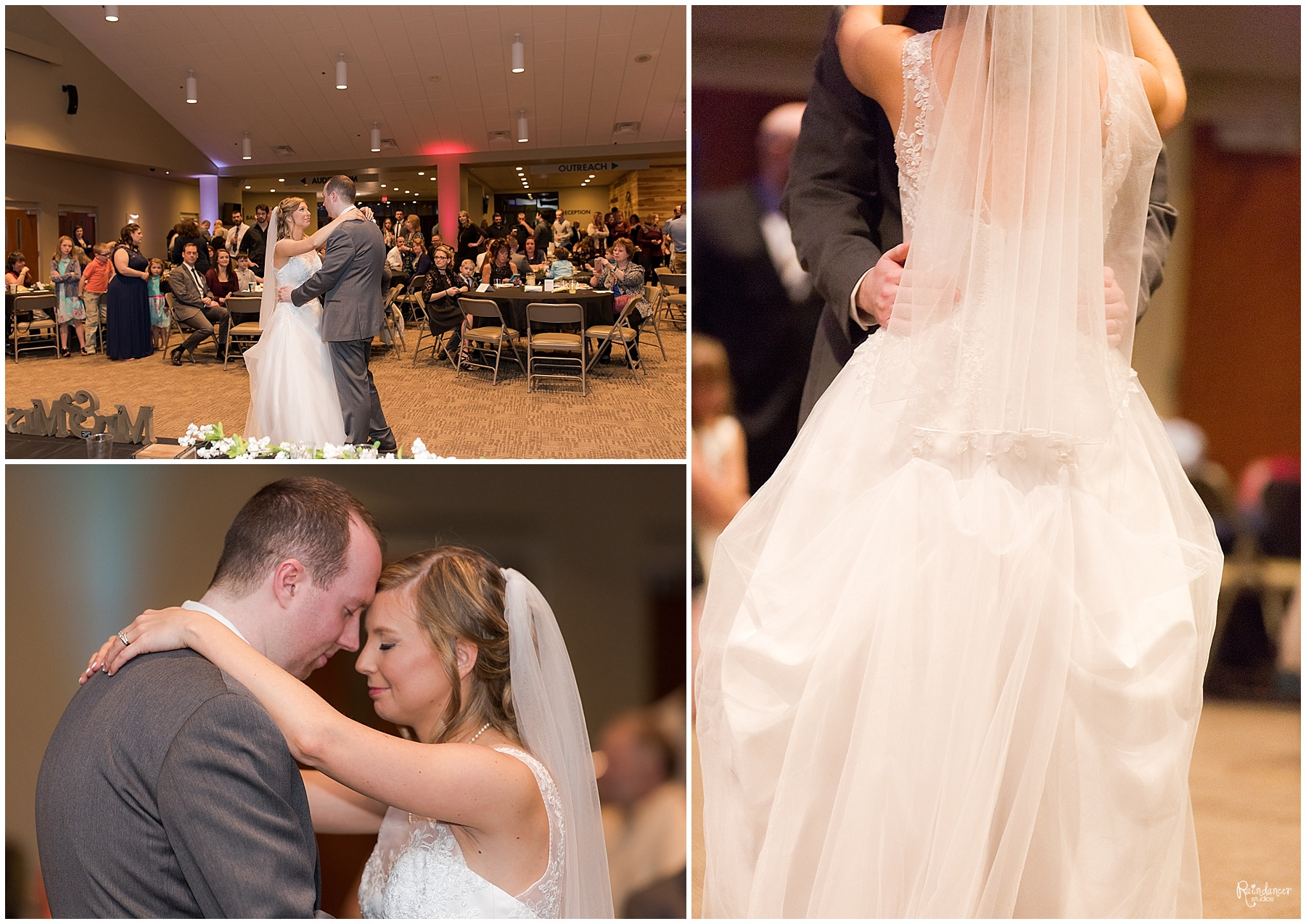 Bride and groom's first dance by Raindancer Studios Indianapolis Wedding Photographer Jill Howell