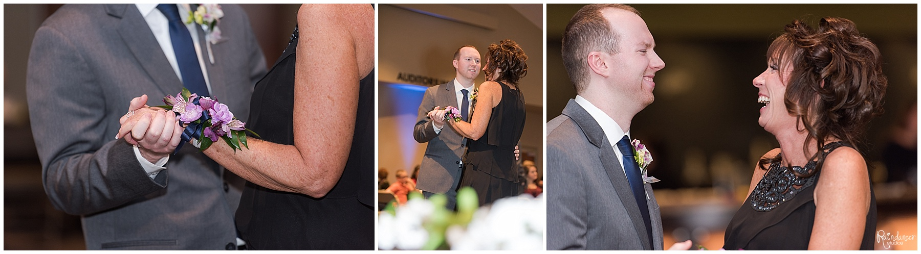 Groom dancing with mother by Raindancer Studios Indianapolis Wedding Photographer Jill Howell