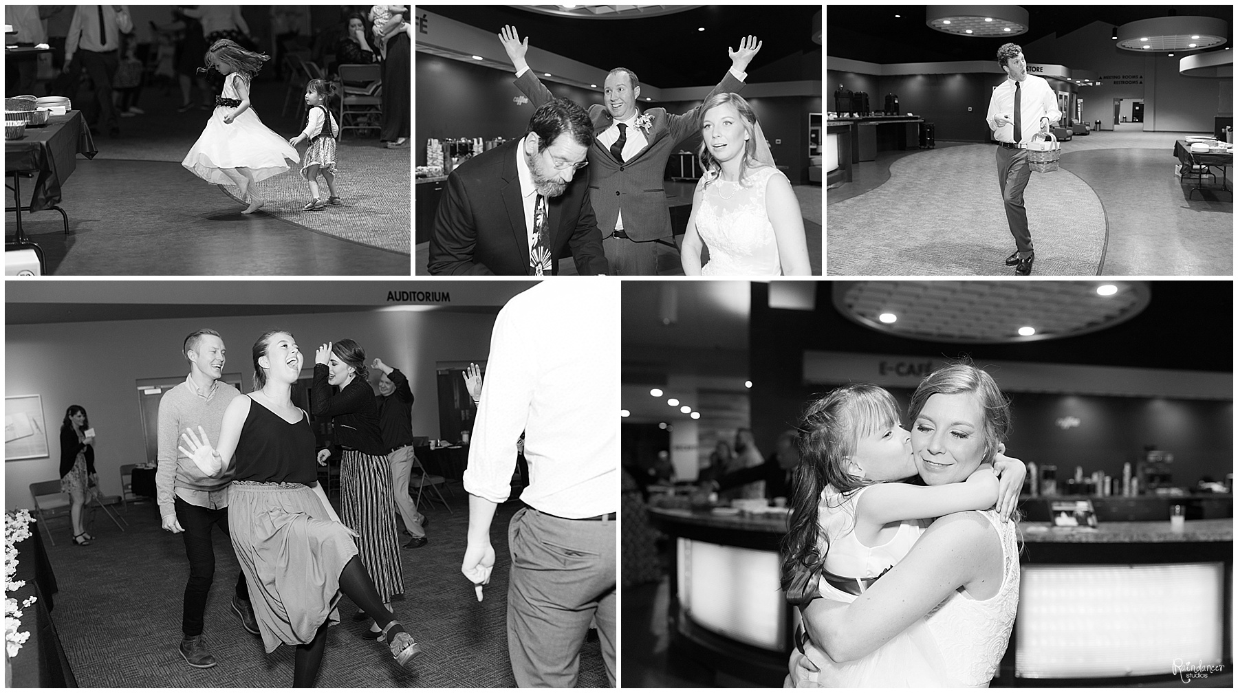 Guests dancing at the wedding reception by Raindancer Studios Indianapolis Wedding Photographer Jill Howell