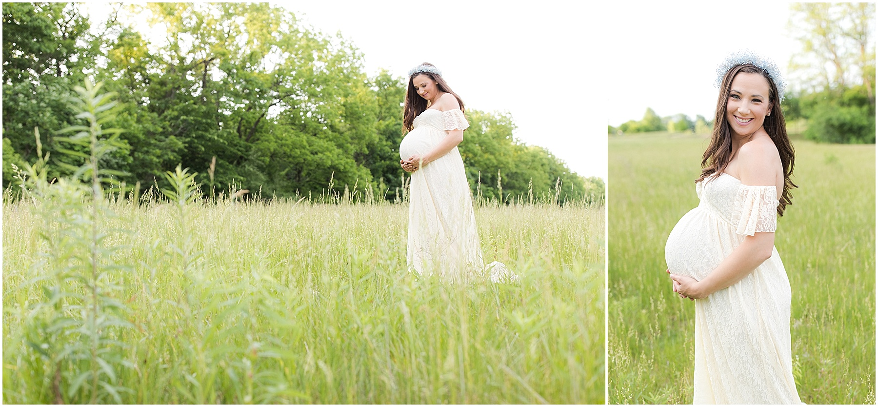 Mother holding her growing belly, expecting baby her second daughter, Indianapolis Maternity Photographer