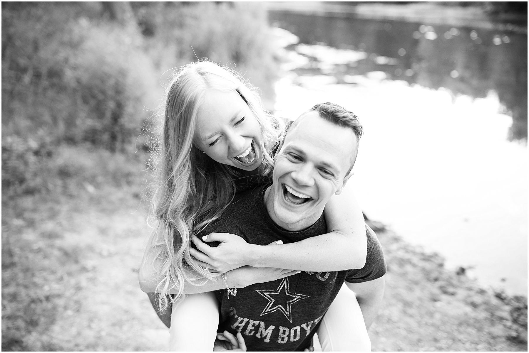 Two people in love, capturing true happiness, Indianapolis Engagement Photographer, Raindancer Studios
