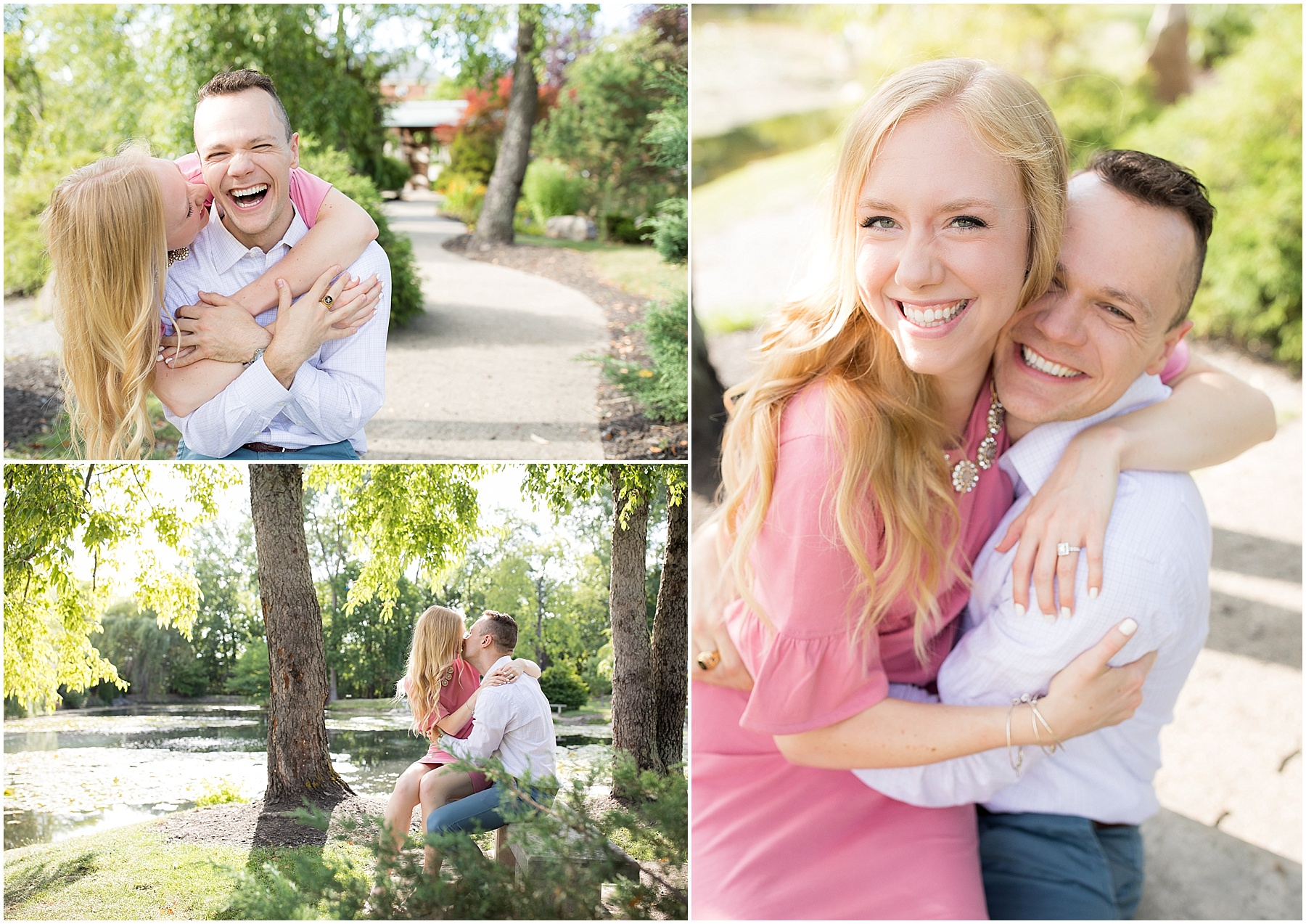 There love for each other shines through there joy and laughter. Indianapolis Engagement Photographer, Raindancer Studios