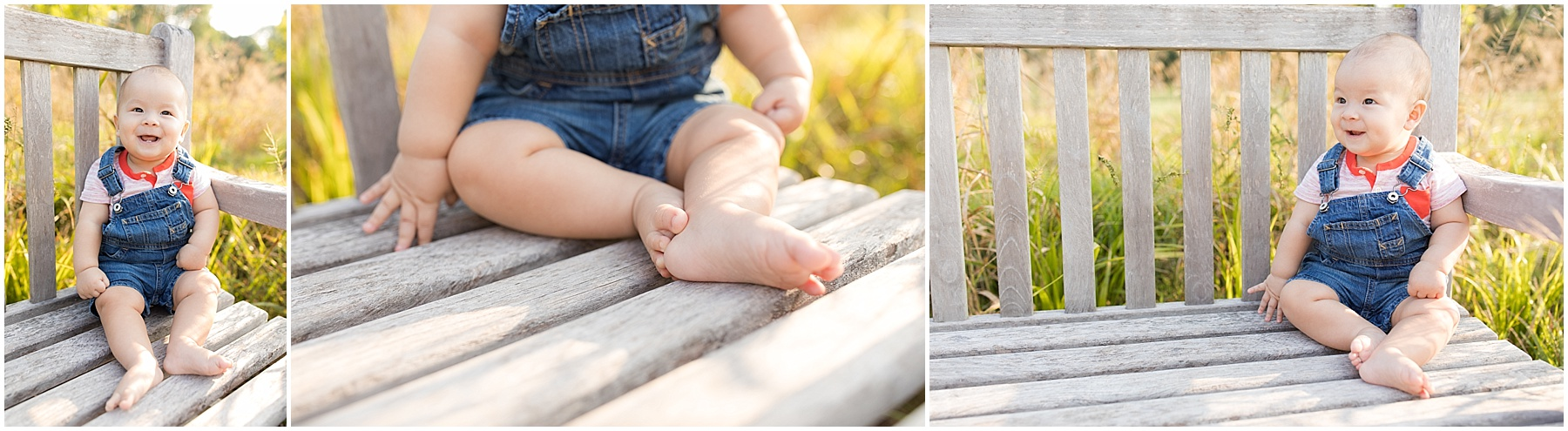 Little girl sitting pretty on a wood bench.  Indianapolis Family Photography, Raindancer Studios