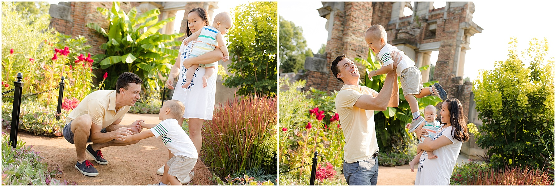 Husband and wife playing with their children.  Indianapolis Family Photography, Raindancer Studios
