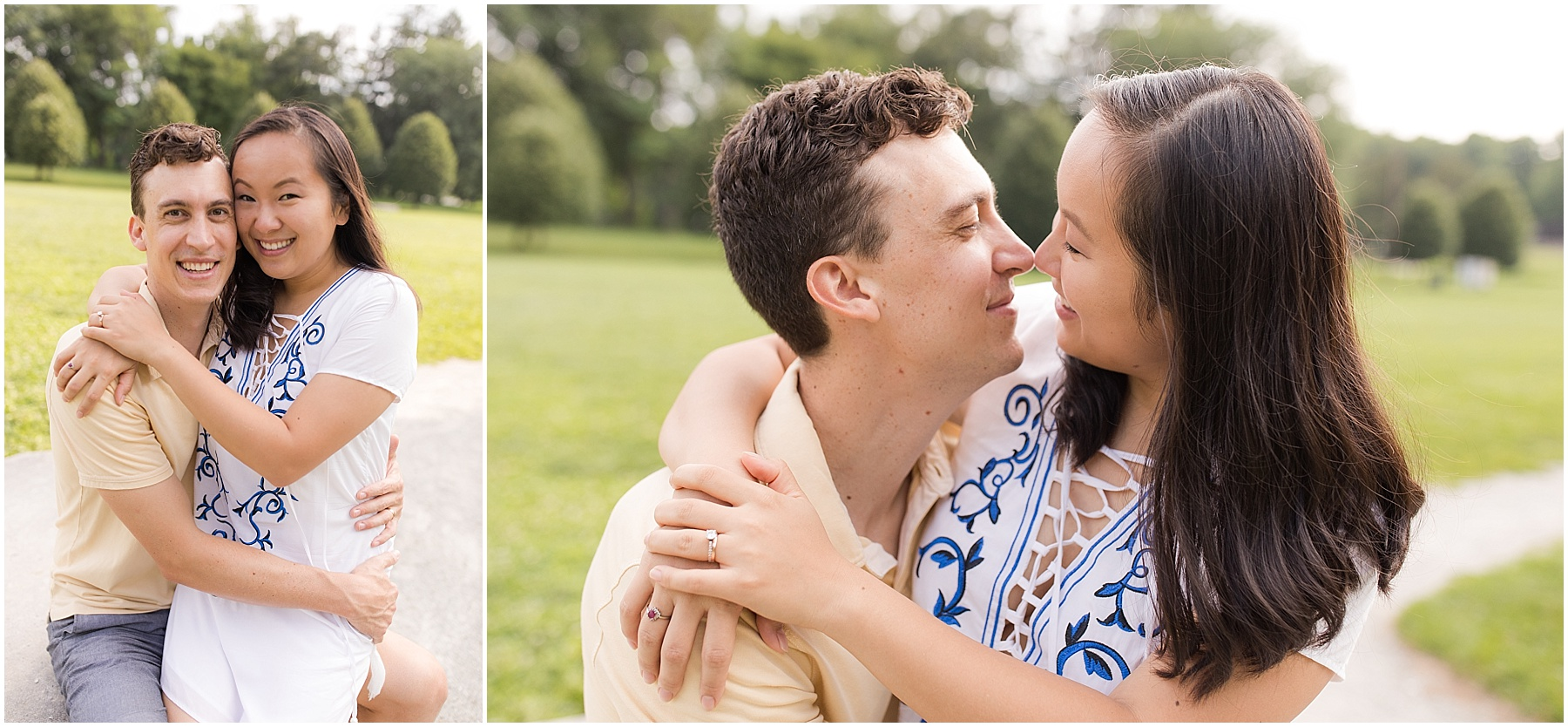 Husband and wife holding each other.  Indianapolis Family Photography, Raindancer Studios