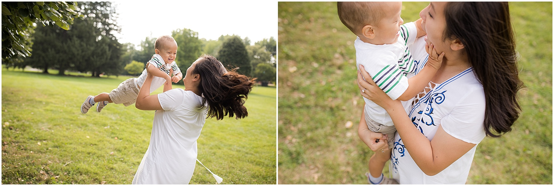 Mother playing with her son.  Indianapolis Family Photography, Raindancer Studios