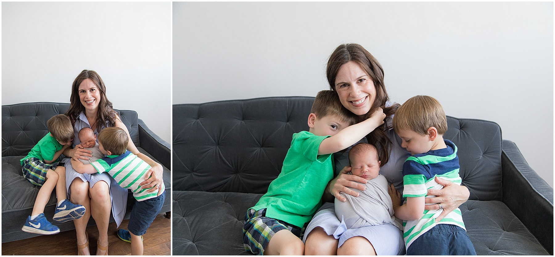 Mother and her three boys, Indianapolis Family Photography, Raindancer Studios
