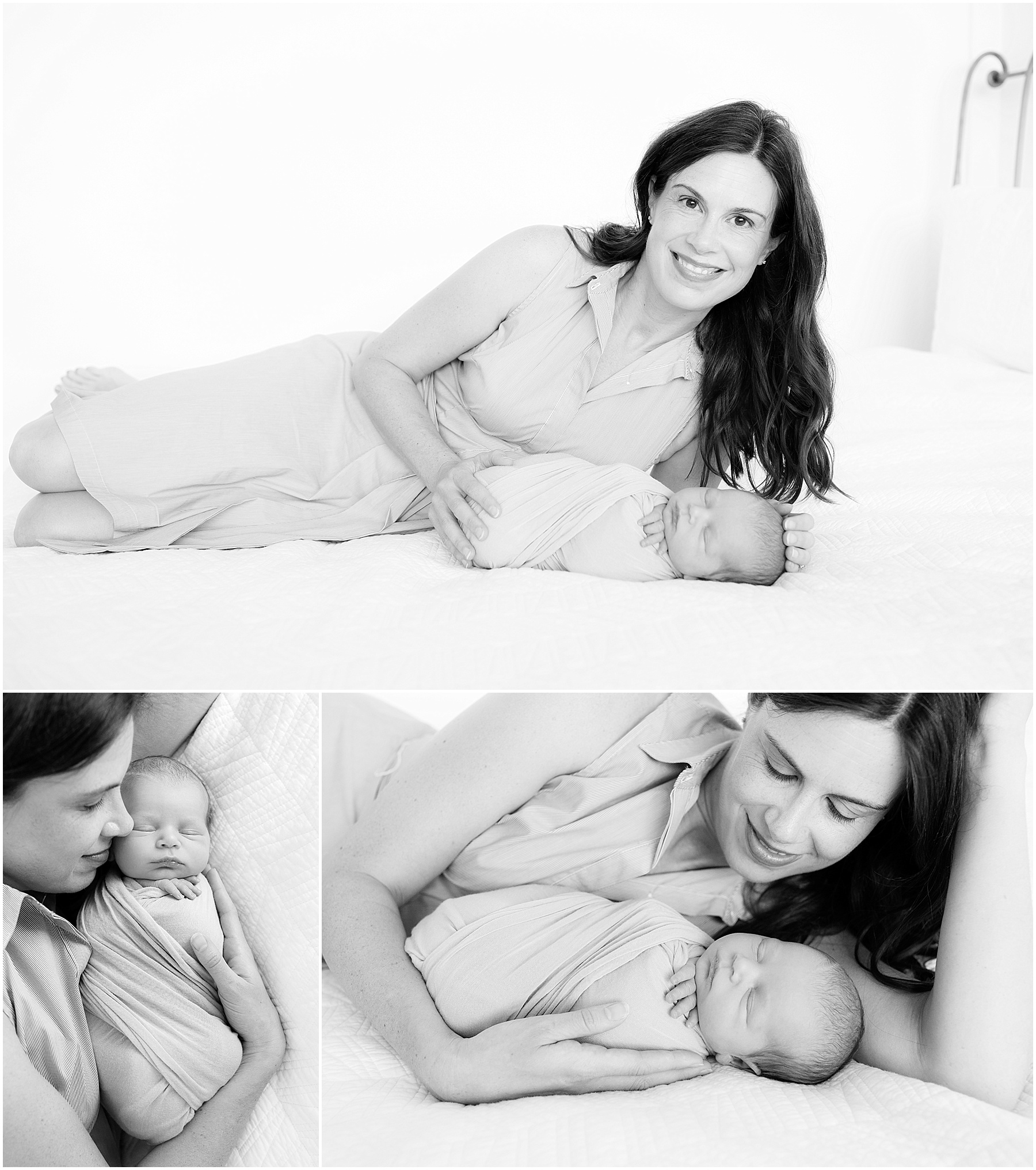Mother and her sweet newborn baby boy, Indianapolis Newborn Photography, Raindancer Studios