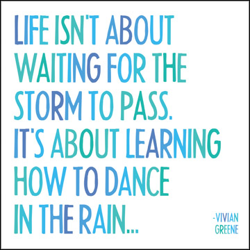 A Brave Moment on Facebook Live Worth Sharing- Dancing in the Rain
