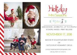 Indianapolis Holiday Mini Sessions in Downtown Indy