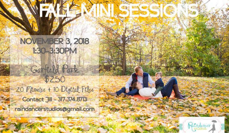 Indianapolis Fall Mini Sessions for 2018!