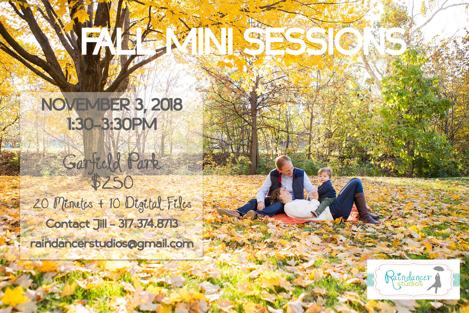Fall Mini Sessions Indianapolis 2018