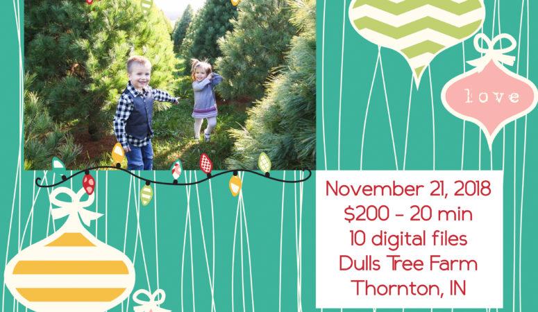 Dulls Tree Farm Holiday Mini Sessions 2018